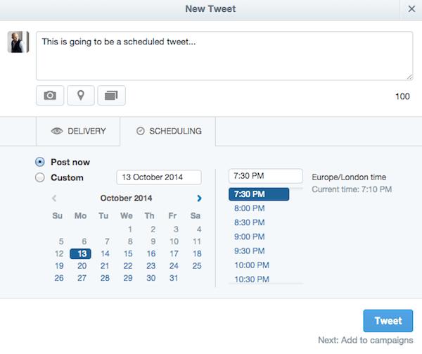 Điều chỉnh lại Tweet