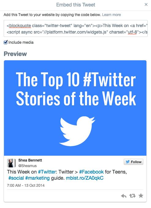 Chia sẻ Tweet trên wesbsite