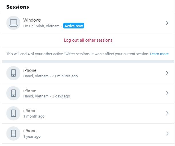 Thủ thuật Twitter đăng xuất khỏi tất cả các thiết bị