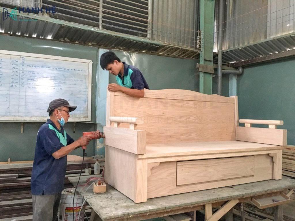 Xưởng sản xuất ghế sofa giường của Mạnh Hệ